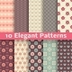 Elegant Romantic Vector Seamless Patterns - GraphicRiver Item for Sale