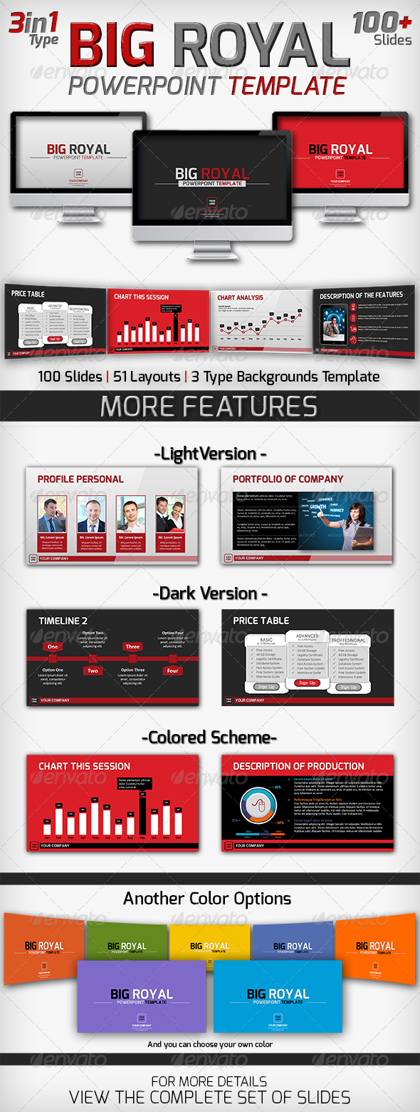 Big Royal PowerPoint Template - Business PowerPoint Templates