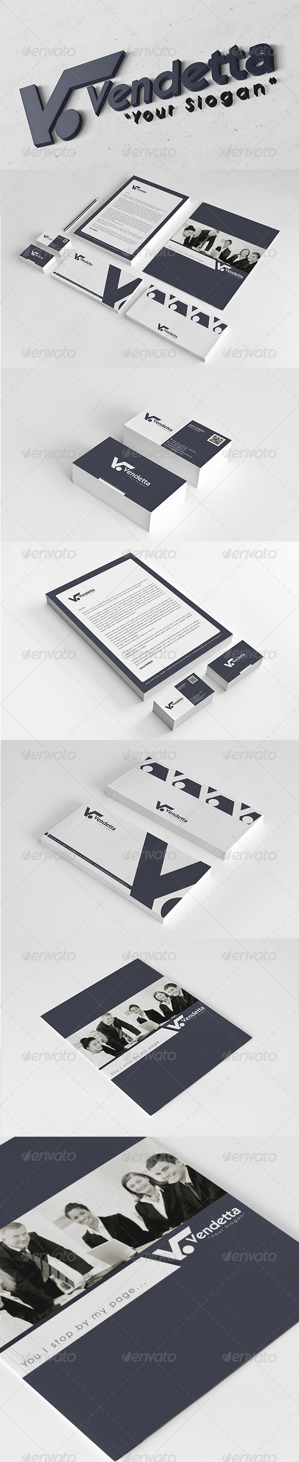 Vendetta Corporate Identity Package  - Stationery Print Templates