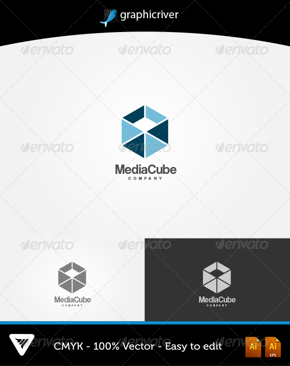 Media Cube Logo - Logo Templates
