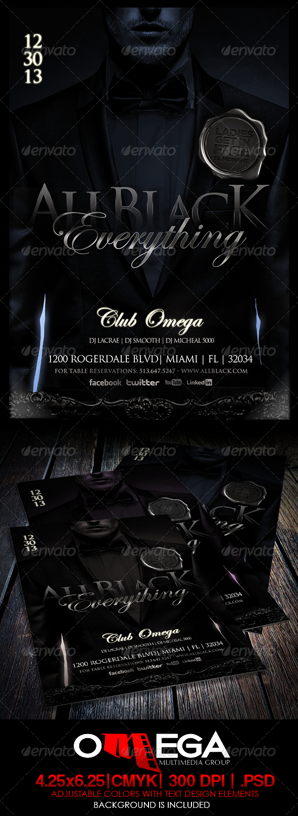 All Black Everything - Events Flyers
