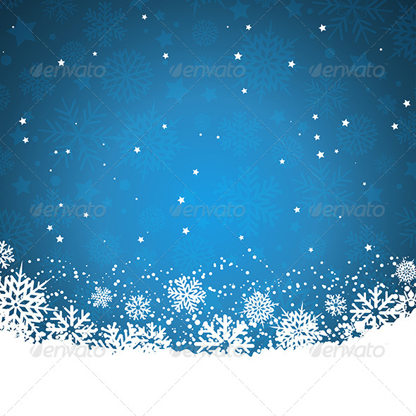 Snowflakes and Stars - Christmas Seasons/Holidays