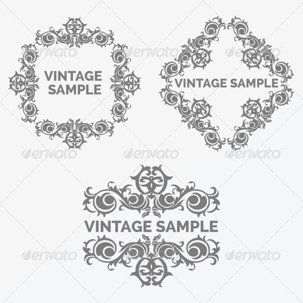 Vintage Frame 72 - Decorative Vectors