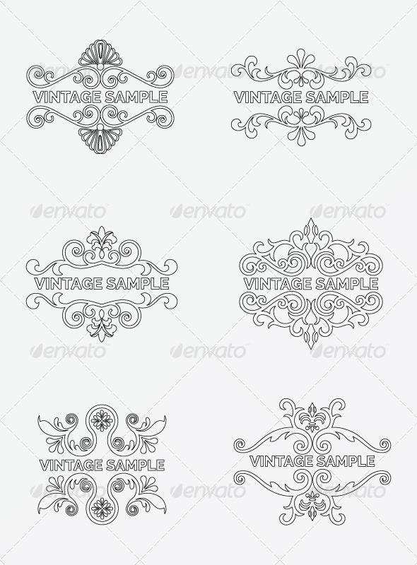 Vintage Frame 74 - Decorative Vectors