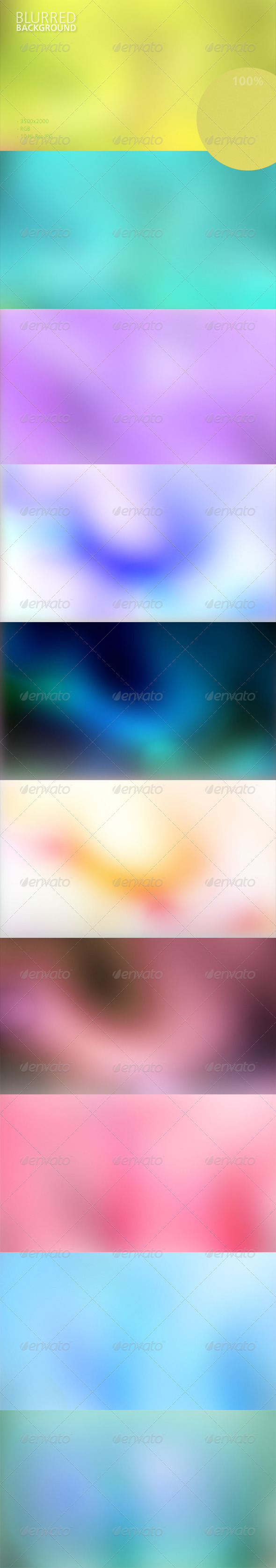 Blurred Background Set - Abstract Backgrounds