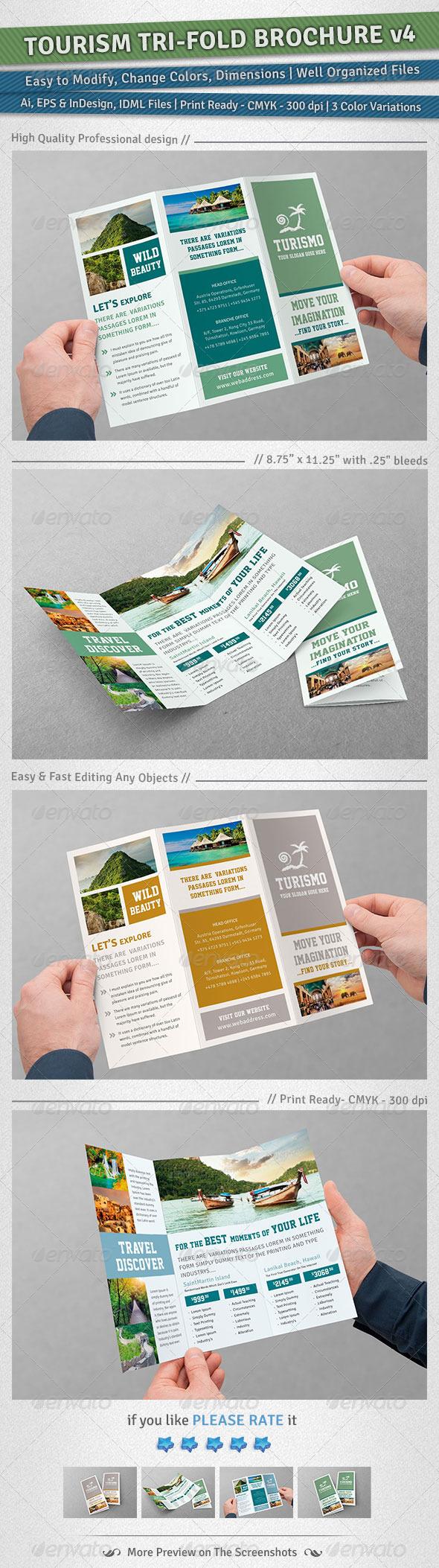 Tourism Tri-Fold Brochure | Volume 4 - Corporate Brochures