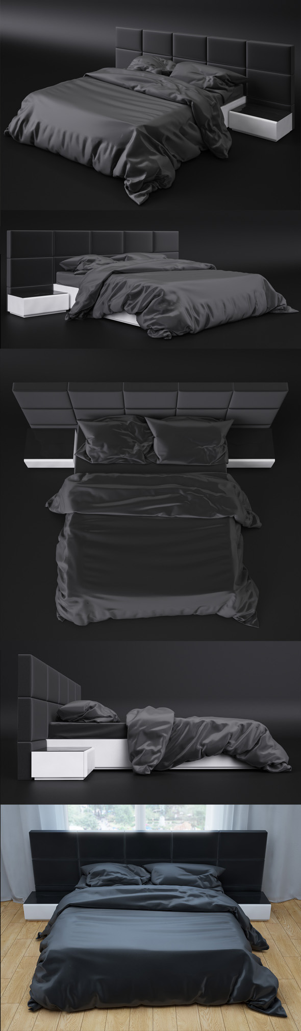Bed sicilia premium 3D Model - 3DOcean Item for Sale
