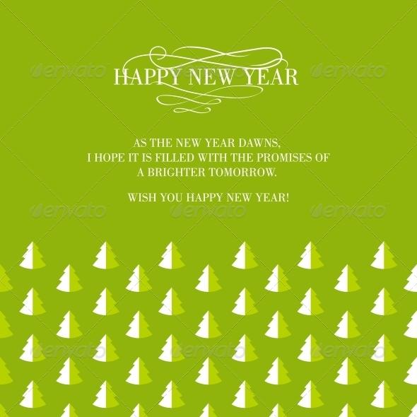 Invitation Card with Seamless Firtree. - Christmas Seasons/Holidays
