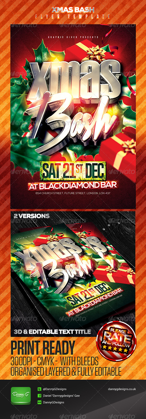 Xmas Bash Flyer Template - Clubs & Parties Events