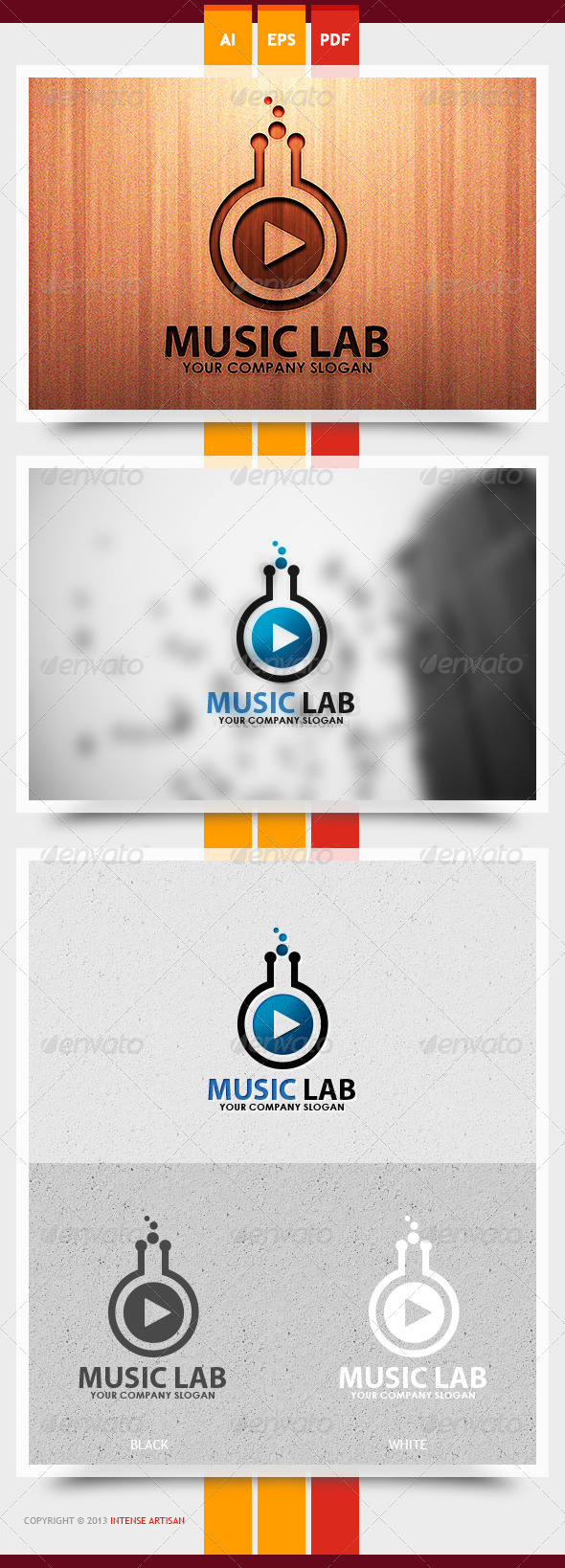 Music Lab Logo Template - Objects Logo Templates