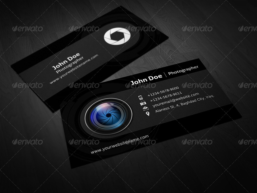 Photographer Business Card Template Vol By OWPictures GraphicRiver - Photography business card template