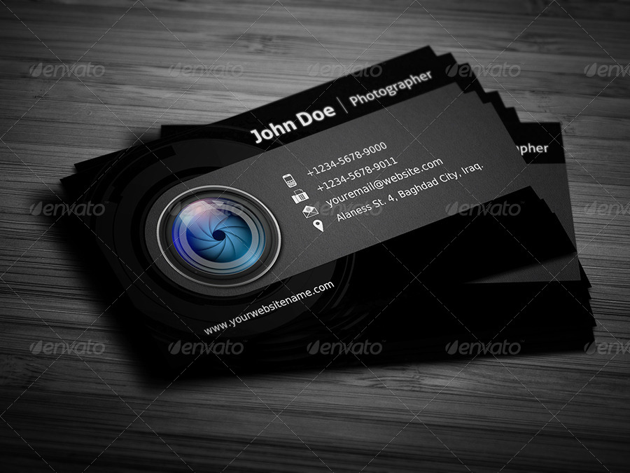 Photographer Business Card Template Vol3 By Owpictures Graphicriver