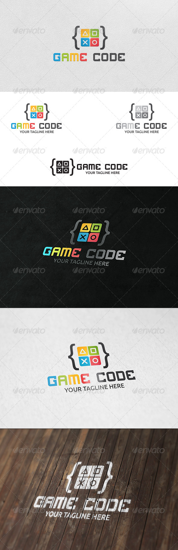 Game Code - Logo Template - Symbols Logo Templates