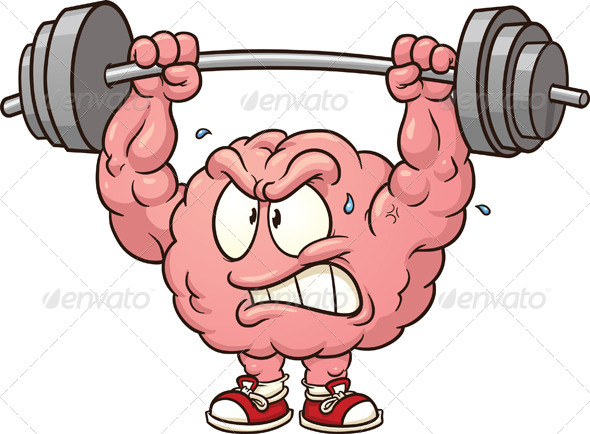 Weightlifting Brain - Health/Medicine Conceptual