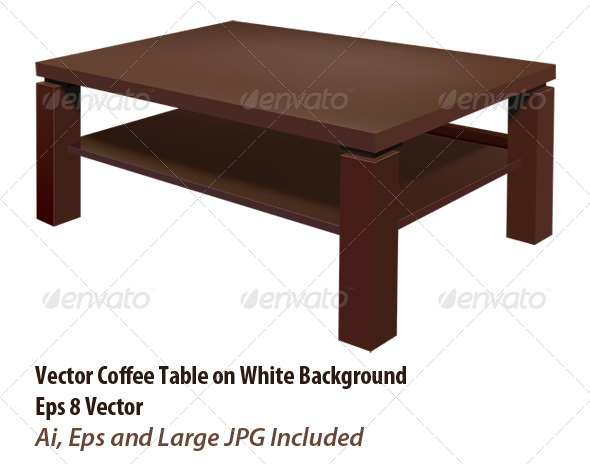 Living Room Table - Objects Vectors