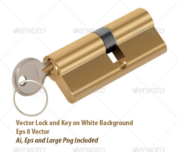 Lock and Key - Objects Vectors