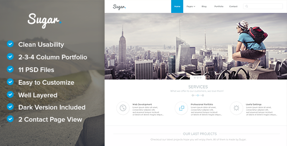 Sugar – Creative PSD Template