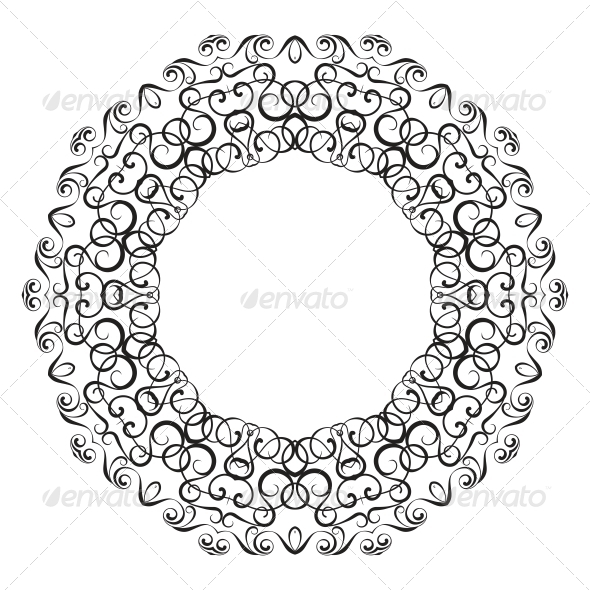 Circullar Border Frame - Borders Decorative