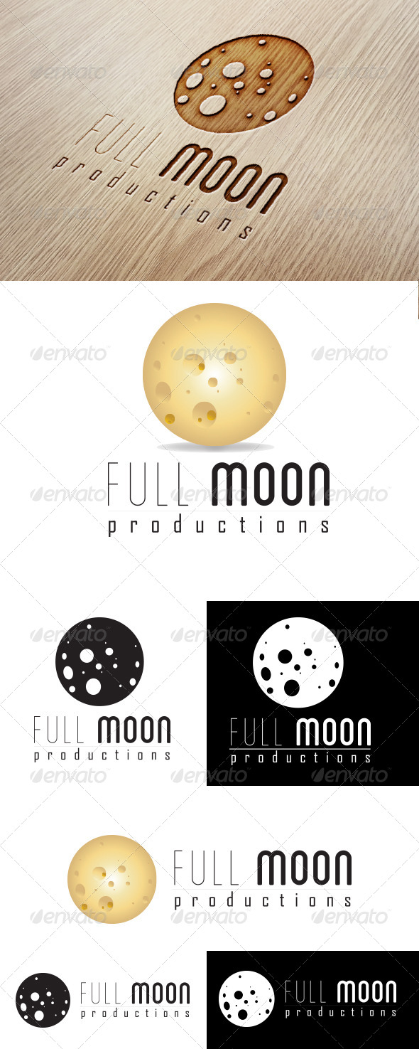 Full Moon Production Logo - Nature Logo Templates