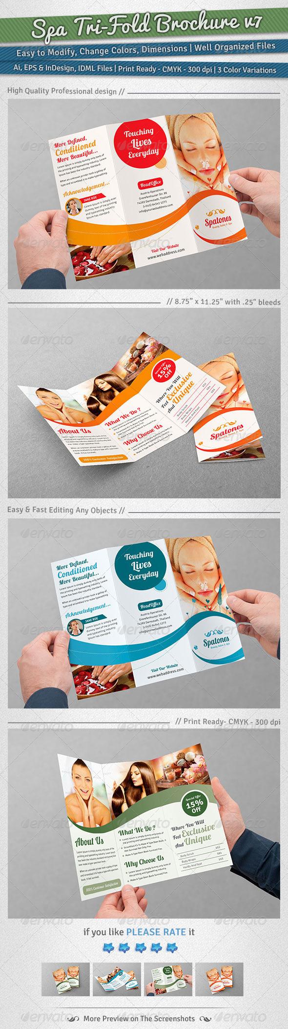 Spa Tri-Fold Brochure | Volume 7 - Corporate Brochures