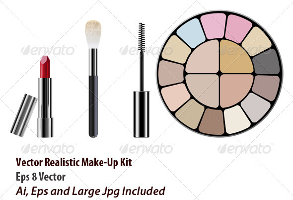 Make Up Kit - Objects Vectors