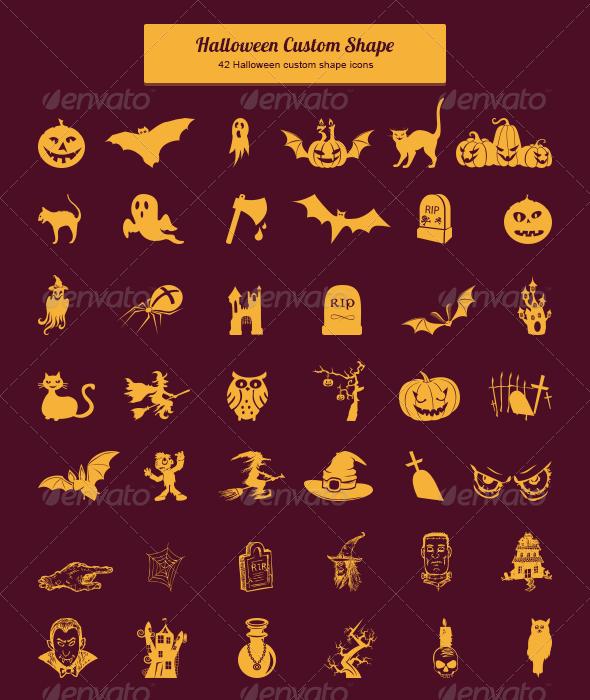 Halloween Custom Shape - Shapes Photoshop