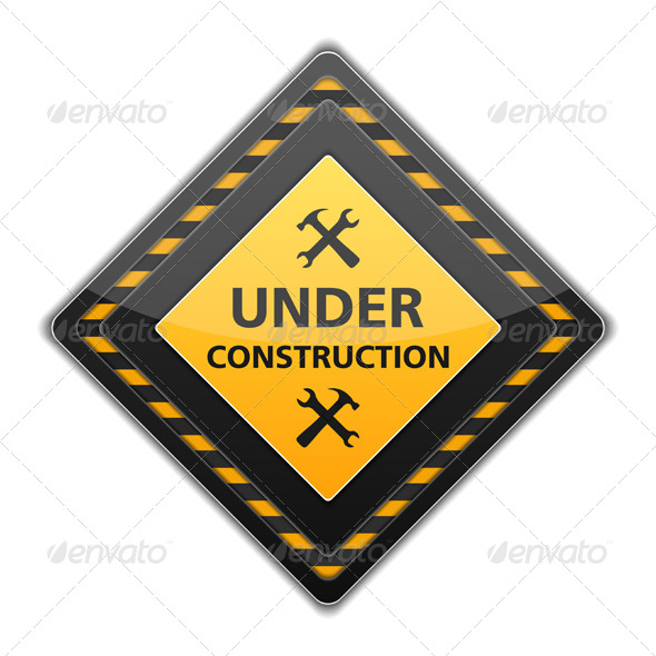 Under Construction Sign - Objects Vectors
