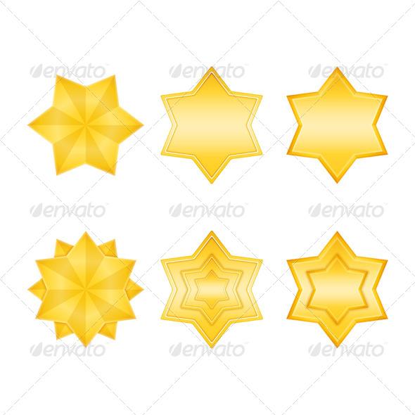 Golden Stars - Miscellaneous Vectors