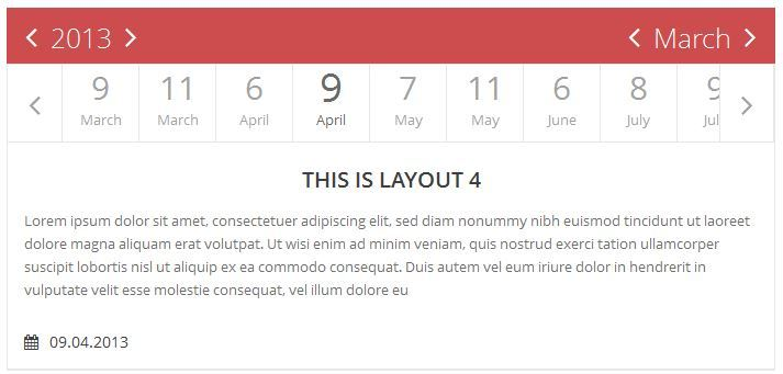 Jquery Flat Event Calendar Responsive Timeline By Tahmidurrafid