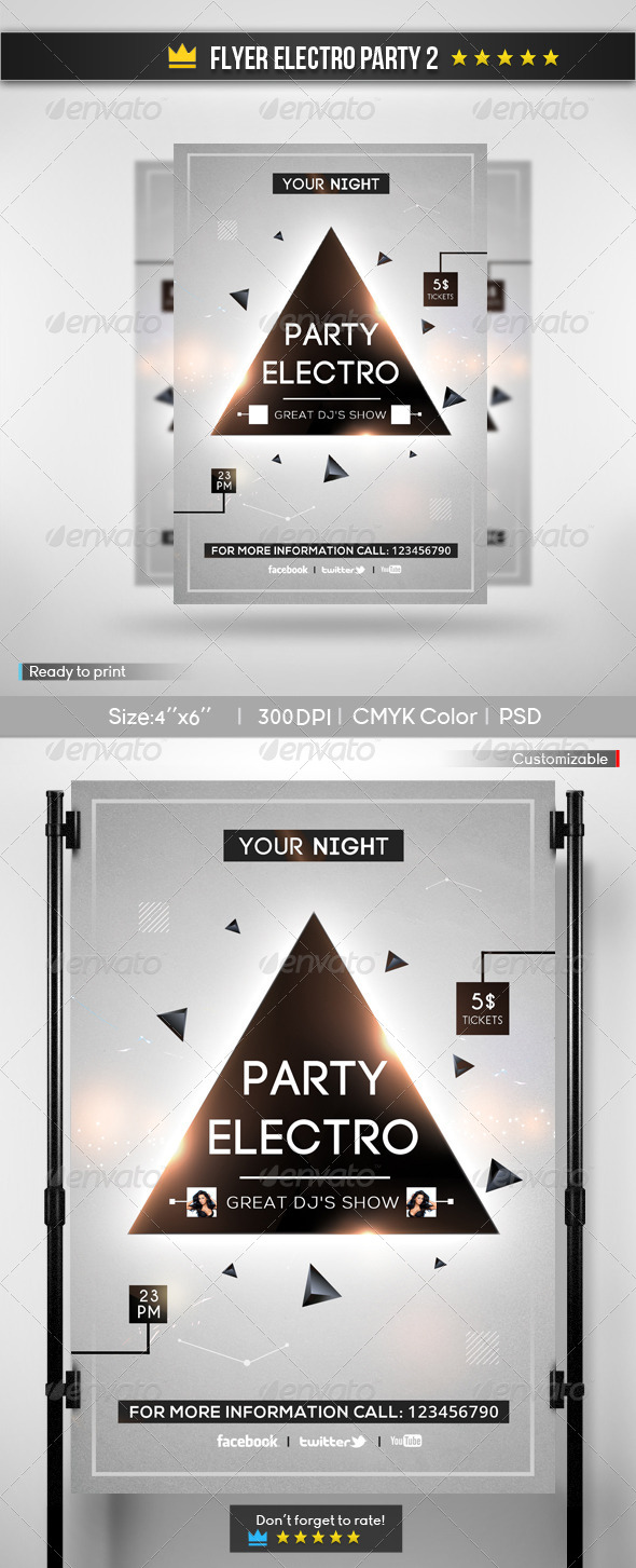 Flyer Electro Party 2 - Clubs & Parties Events