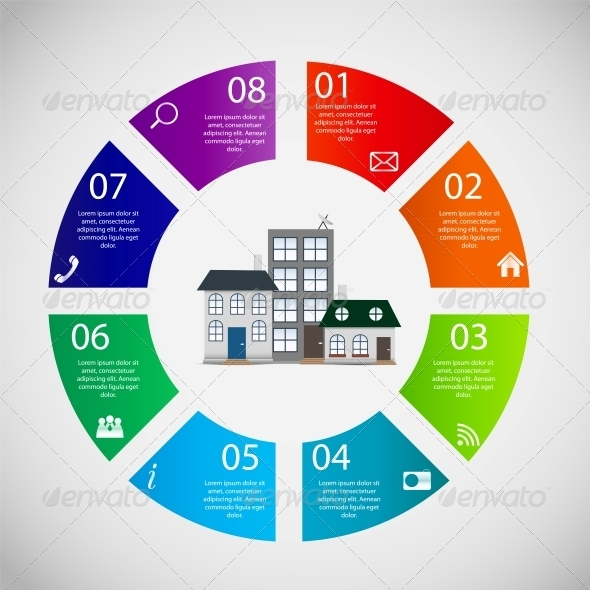 town infographic template business concept vector by yganko graphicriver. Black Bedroom Furniture Sets. Home Design Ideas