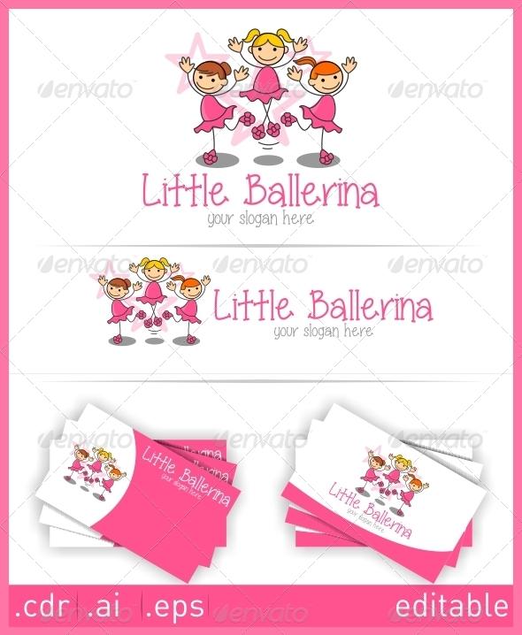 Little Ballerina Logo - Humans Logo Templates