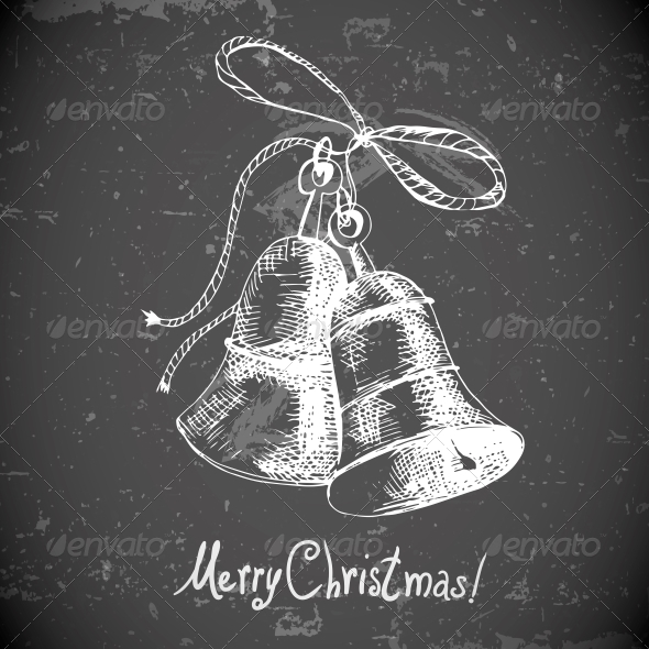 Christmas Bell for Retro Design - Patterns Decorative