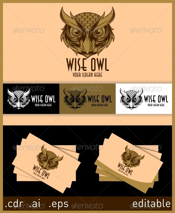 Wise Owl Logo - Animals Logo Templates