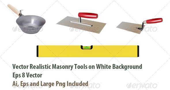 Masonry Tools - Objects Vectors