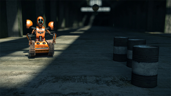 a Factory Robot Worker - 3DOcean Item for Sale