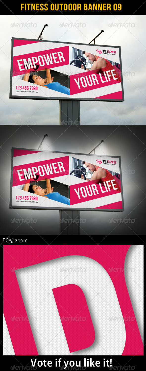 Fitness Outdoor Banner 09 - Signage Print Templates