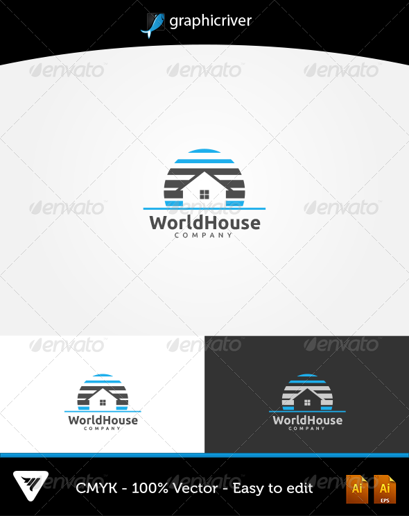 World House Logo - Logo Templates