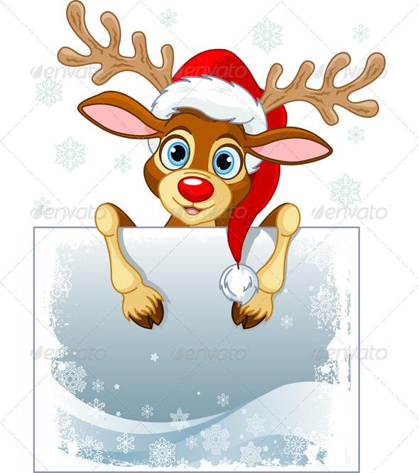 Reindeer Sign  - Christmas Seasons/Holidays