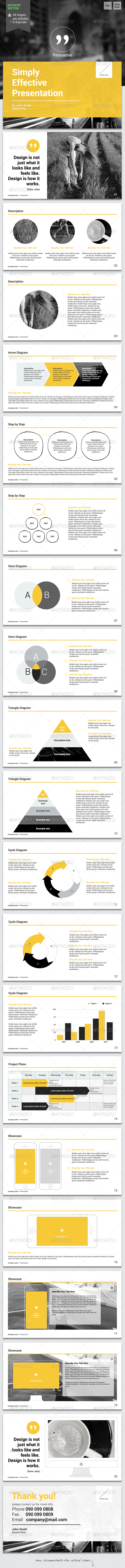 Persuasive - Keynote Presentation - Keynote Templates Presentation Templates