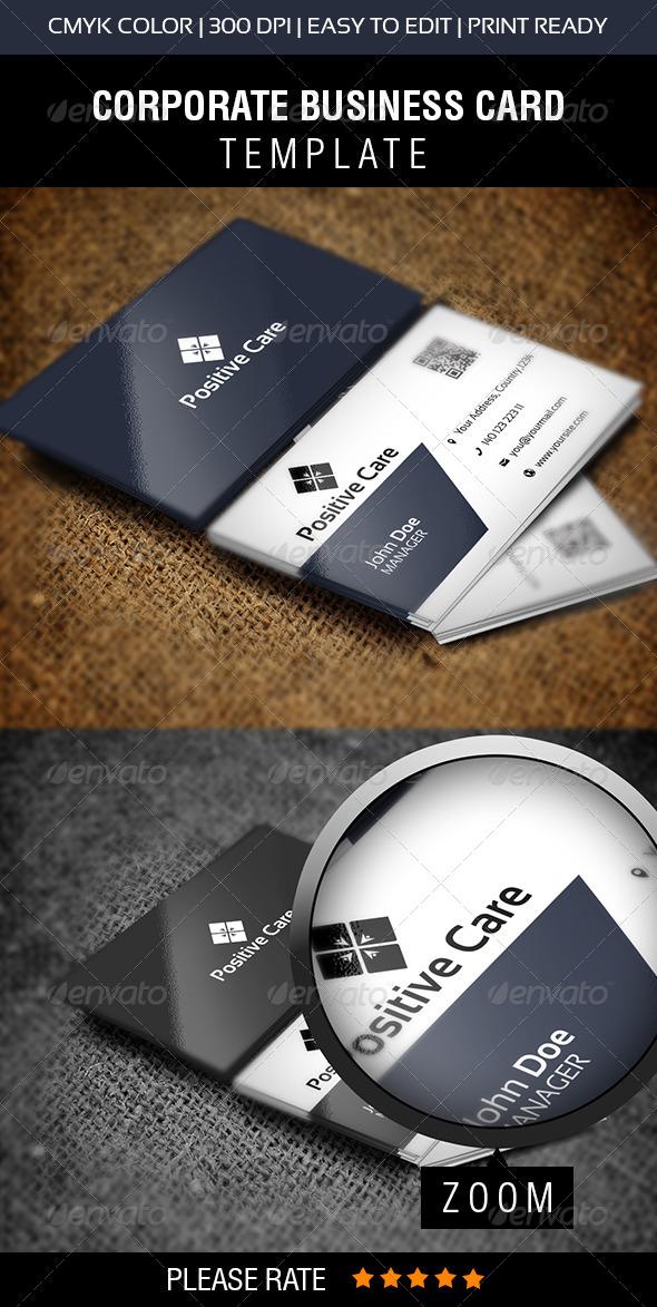 Positive Care Business Card   - Corporate Business Cards