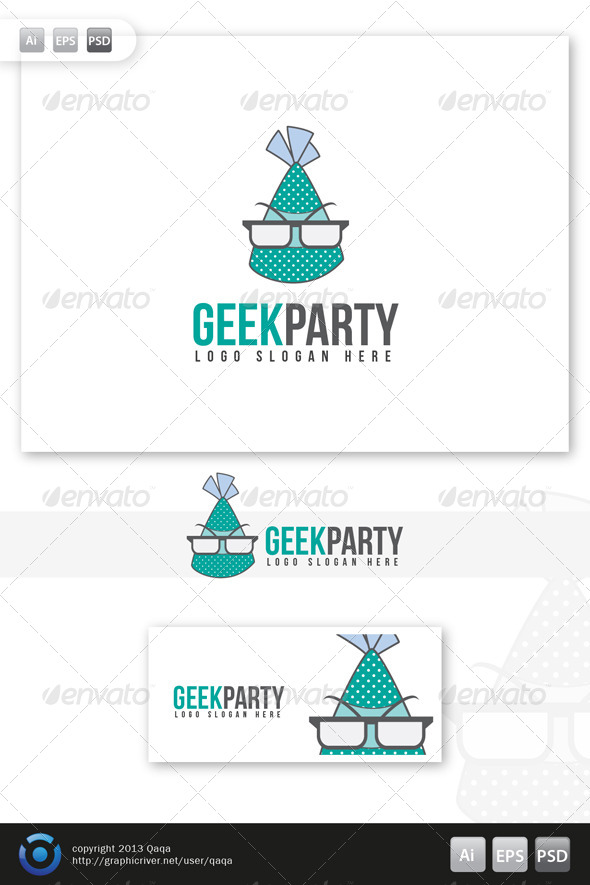 Geek Party Logo - Logo Templates