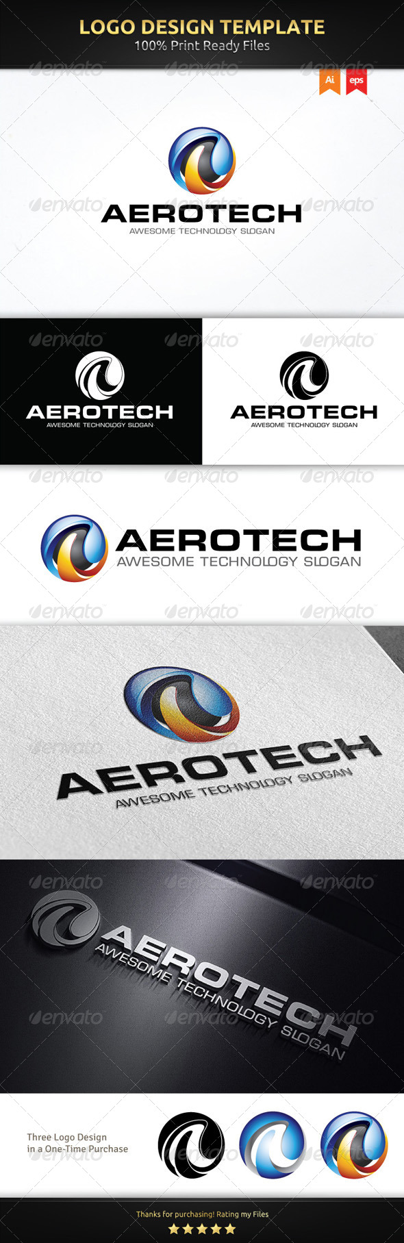 A Sphere Logo Template - 3d Abstract
