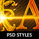 Christmas Photoshop Layer Styles - GraphicRiver Item for Sale