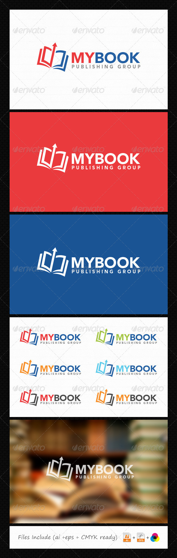 Book Logo - Abstract Logo Templates
