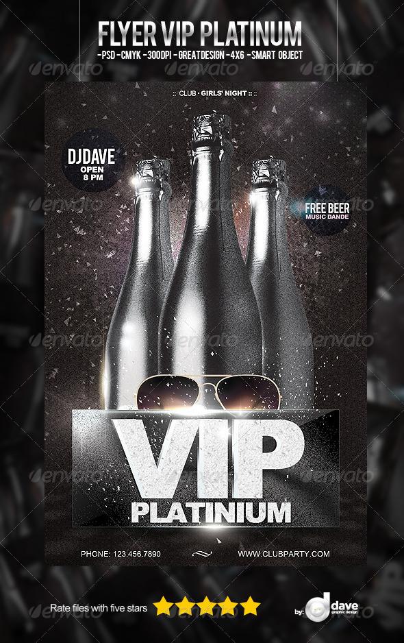 Flyer VIP Platinum - Clubs & Parties Events