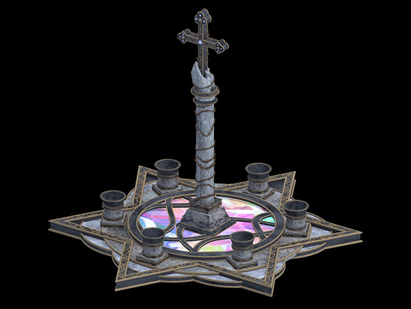 Cross Statues - 3DOcean Item for Sale