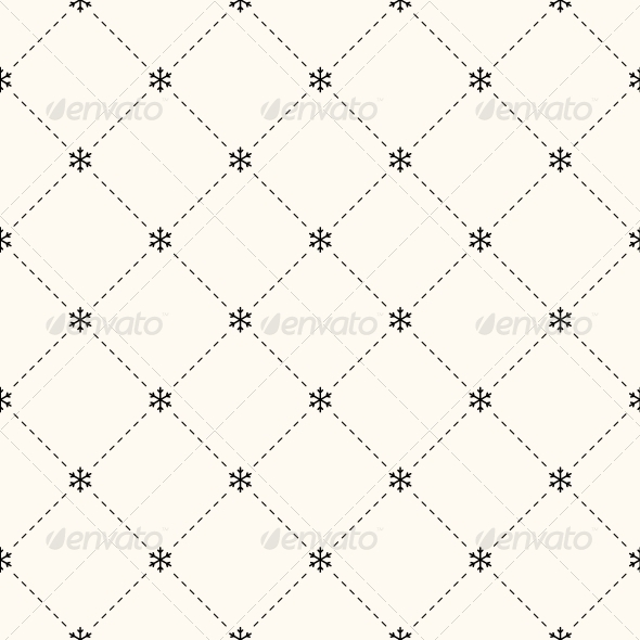 Vector Seamless Winter Retro Pattern - Patterns Decorative