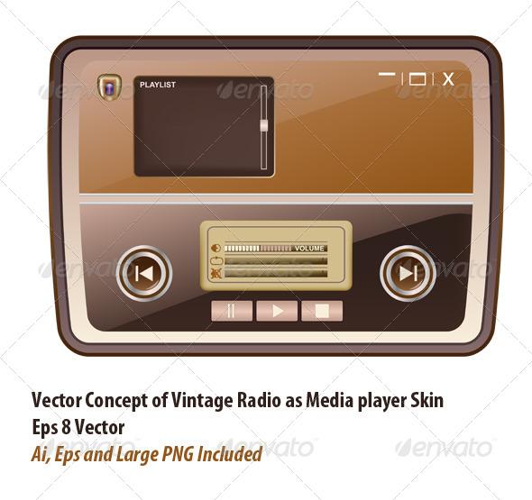 Media Player Skin - Conceptual Vectors