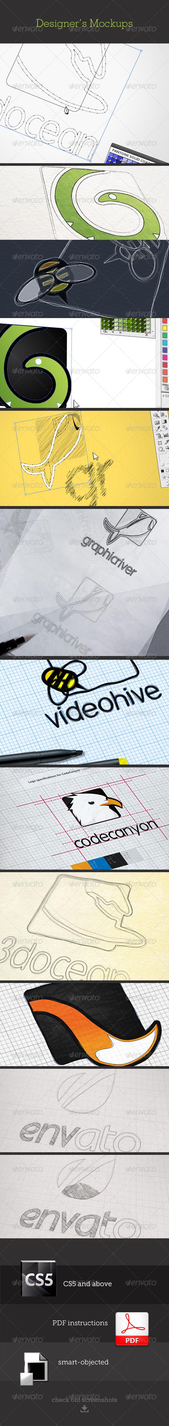 Designers Mockups - Logo Product Mock-Ups